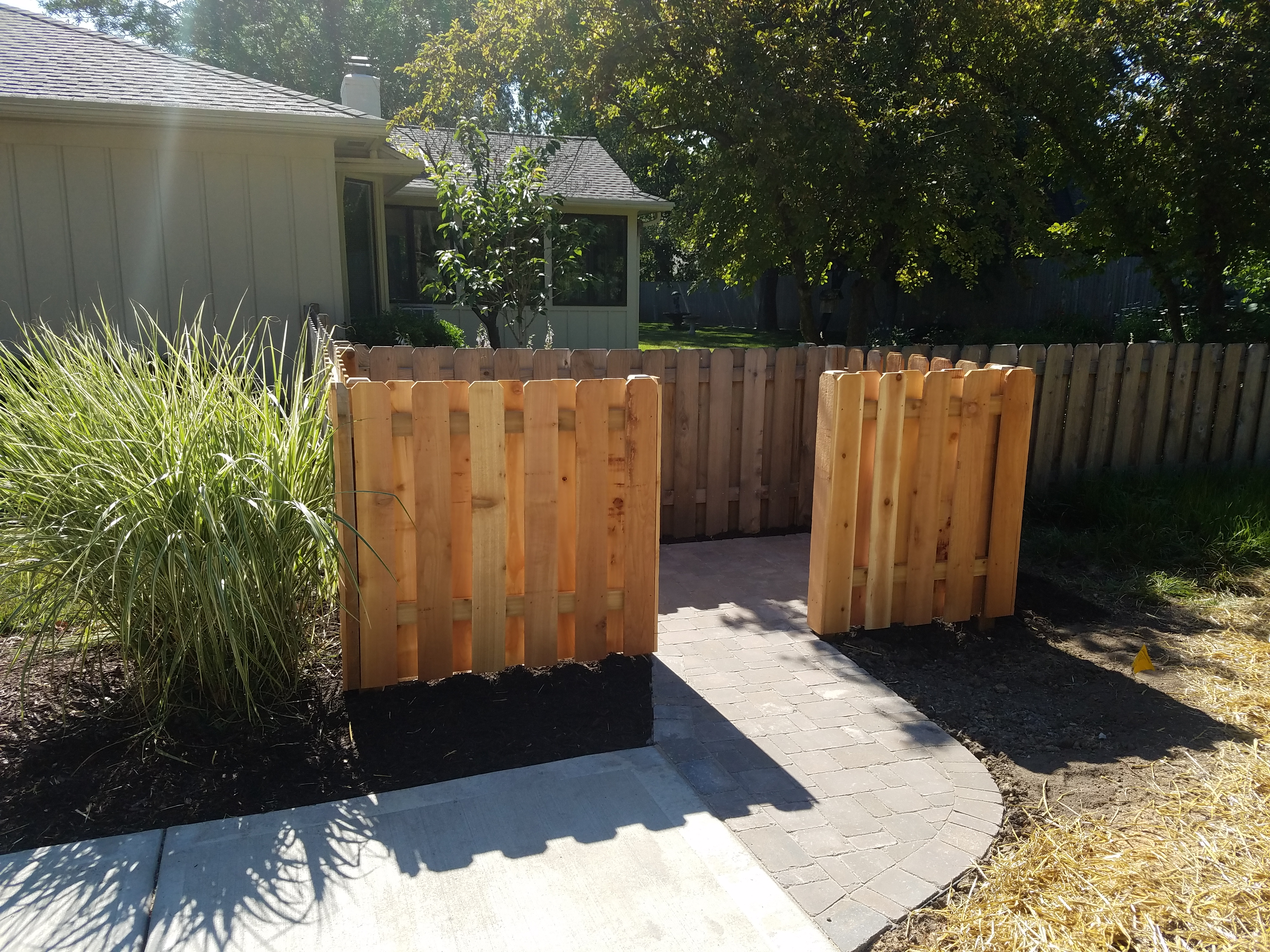 Paver Walkway And Fence Construction Kansas City