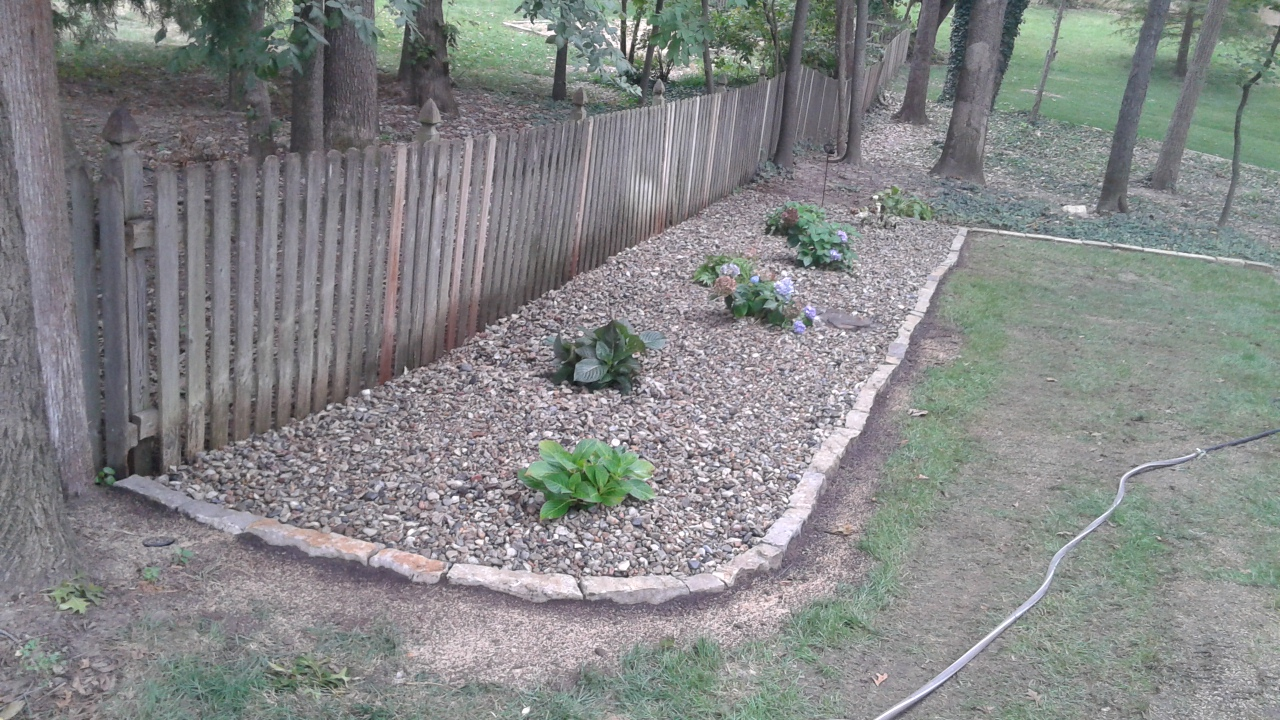 Decorative Stone Edging : Stone edging and decorative gravel liberty complete