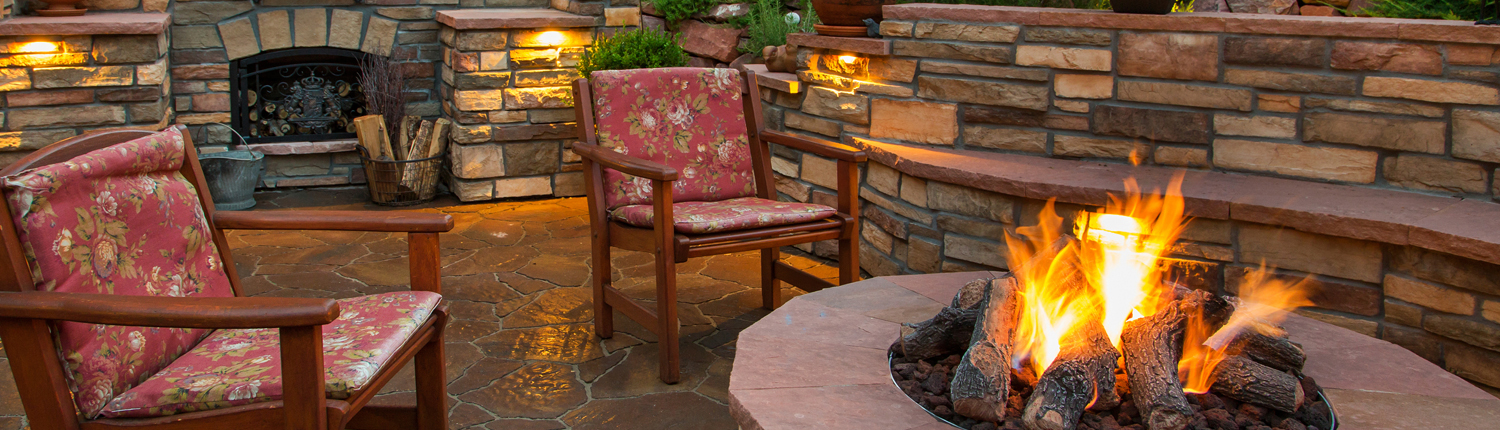 Fire pit paver patio